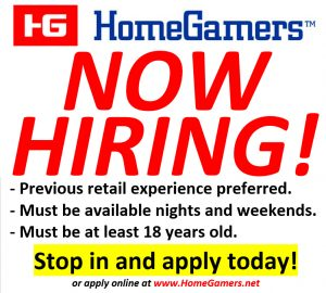 HomeGamers Now Hiring