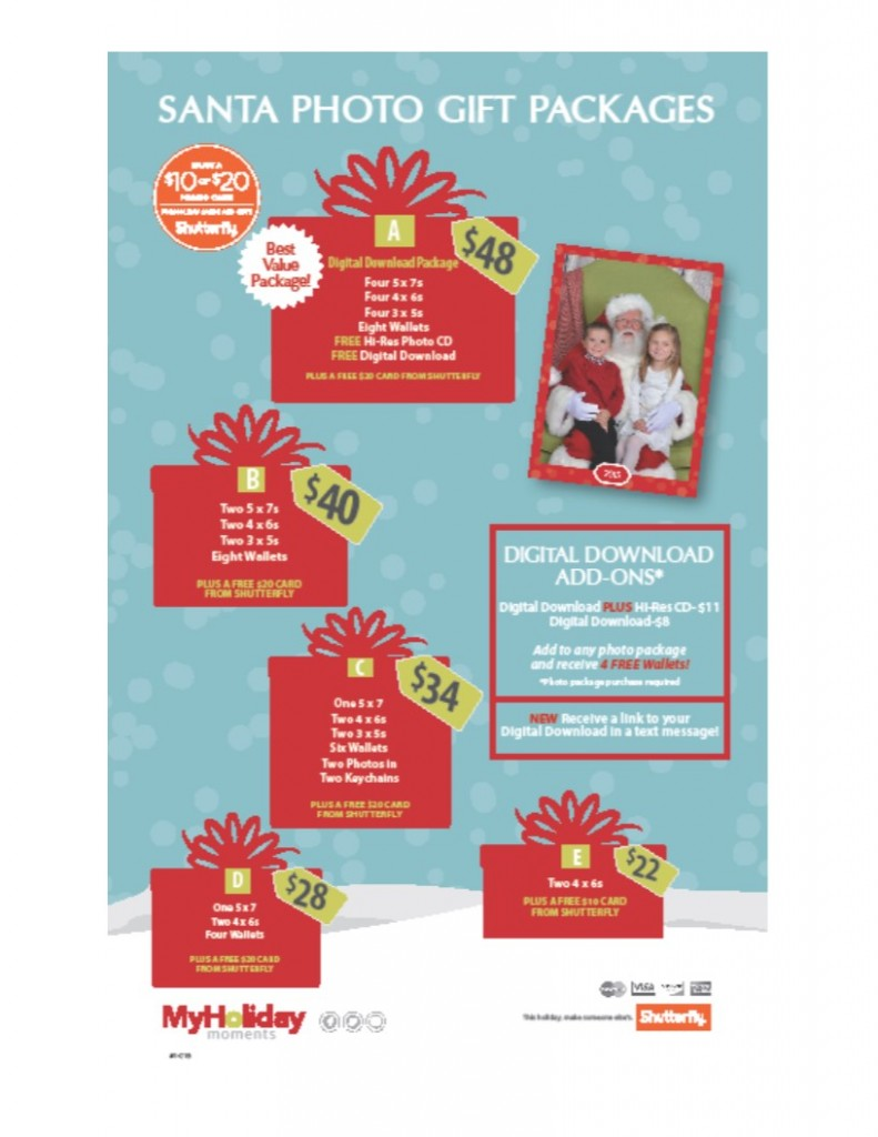 Santa Photo Packages