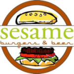 Sesame Burgers and Beer logo